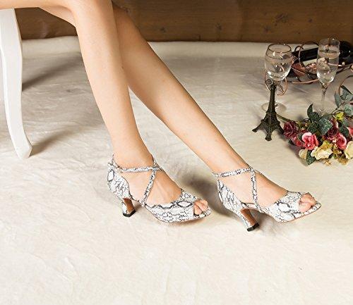 Minitoo–th125Croce Cinturino con fibbia raso matrimonio ballo Latina taogo Dance Sandals White