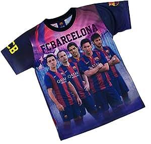 Maillot Bar?a - NEYMAR MESSI SUAREZ XAVI INIESTA - Collection officielle FC BARCELONE - XL