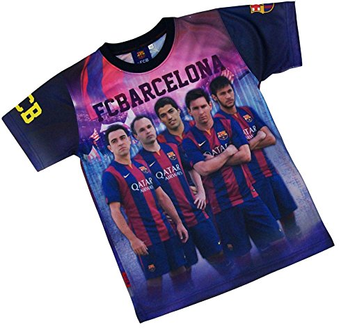 Fc Barcelone Maillot Barça - Neymar Messi Suarez Xavi Iniesta - Collection Officielle Taille Adulte