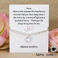 For Mum Personalised Swarovski Bracelet Handmade by Adorna (W)