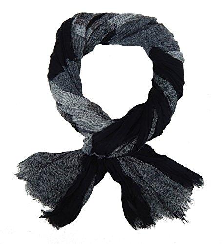 Ella Jonte Herrenschal schwarz grau by breiter weicher Schal Viskose