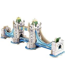 Creative Assemble Puzzle Toys Child Early Education Wooden 3 D Puzzle Building London Tower Bridge