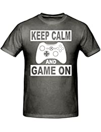 Keep Calm & Game ON Banner T Shirt,Children's T Shirt, Sizes 5-15 Years