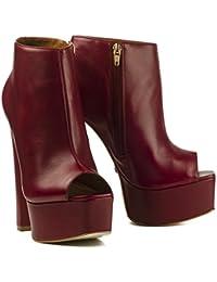 5195842a6e7e69 Buffalo ZS 6437-16 Damen Stiefeletten Ankle Boots Leder Plateau Platform