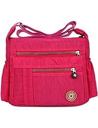 ec49c51d6b Leisure Women Waterproof Nylon Messenger Bags Cross Body Shoulder Bags  Casual Multi Pocket Handbag Tote Purse