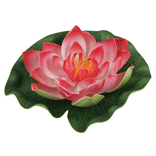 Sourcingmap® Fish Tank Aquascaping Lotus Ornament Rot Grün Decor de