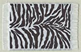 Miniatur Teppich, reines Polyester für Weihnachtskrippe, Puppenhaus, Zebra 5x9cm