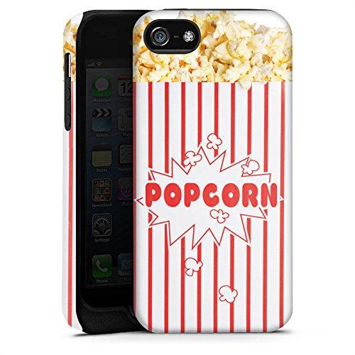 Apple iPhone 5s Housse Étui Protection Coque Popcorn Cinéma Design Cas Tough terne