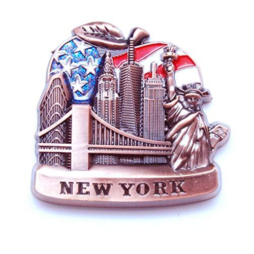 Uns Flagge Sonnenbrille Form Metall Magnet Kühlschrank NY-Empire State Building, Freiheitsstatue, Brooklyn Bridge, Skylines NEW YORK Souvenir Pack 1