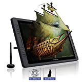 HUION KAMVAS PRO 22 Battery-free Pen Display Graphics Tablet Monitor with Tilt Function, 10 customized Press Keys and a touch Bar on both Sides, 8192 Levels Pen Pressure Sensitivity 266PPS