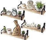 Nature Supplies Schwebendes Regal, Wandmontage, rustikales Holz, Wandregal, für Schlafzimmer, Wohnzimmer, Badezimmer, Küche und Büro