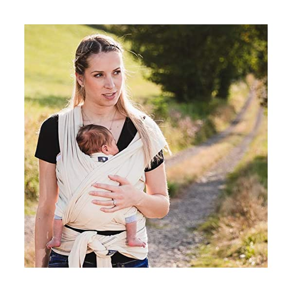 Hoppediz 4.60 m Elastic Newborn and Premature Baby Sling GOTS (Aubergine) Hoppediz For newborn and premature babies 100% cotton (GOTS) Soft grip and comfortable elasticity 2
