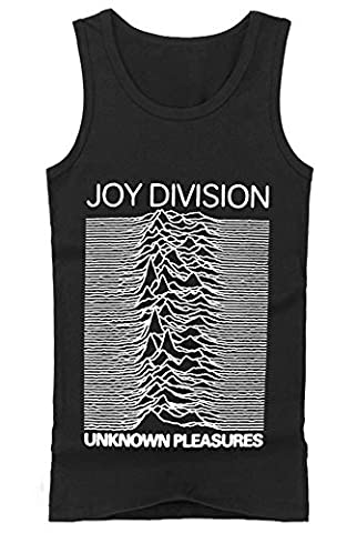 Coole-Fun-T-Shirts Herren T-Shirt Joy Division Unknown Pleasures - Tank, Schwarz, M, FT307