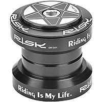 Alomejor Duradero rodamiento de Bicicleta, aleación de Aluminio 34 mm rodamiento de Bicicleta para 28,6 mm Recto Tenedor de dirección, Negro