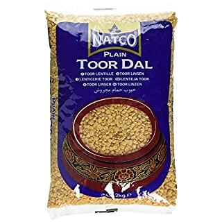 Natco Toor Dal Plain Indian Yellow Beans for Soups, Stews, Casseroles and Vegetable Dishes - 2kg Bag