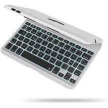 IPad Mini 4 Funda con teclado, iEGrow F04 7 colores retroiluminados delgado teclado de aluminio Bluetooth Español QWERTY (con Ñ letra) con la cubierta protectora de la carcasa para iPad Mini 4 (Plata)