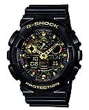 Casio G-Shock Analog-Digital Herrenarmbanduhr GA-100CF gelb schwarz, 20 BAR