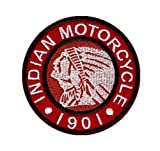Indian motorcycle logo embroidered cloth Iron On Patches