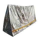Emergenza alluminato isolamento del sacco a pelo campeggio sopravvivenza all'aperto 100 * 200cm immagine