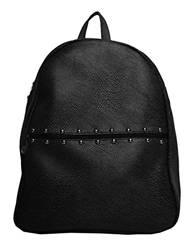 Hbos Traders Women's Backpacks Handbag (Black,Bag 91)