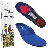 Happy2Feet - WALKING - Einlegesohlen ideal für Wandern und Alltag - Optimale Dämpfung - Maximaler Halt - Für Damen & Herren (43 - 46 EU)