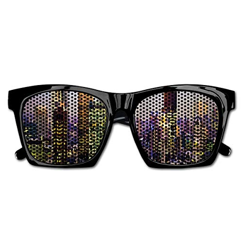 EELKKO Mesh Sunglasses Sports Polarized, Modern Architecture of Downtown London Center of Global Finance Famous Capital City,Fun Props Party Favors Gift Unisex