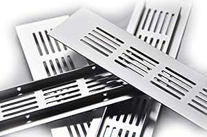 2x ! 50x400mm Alu Aluminium Lüftungsgitter Stegblech Lüftungssieb Abluftgitter Lochblech Lochgitter Alu eloxiert diverse Größen und Längen