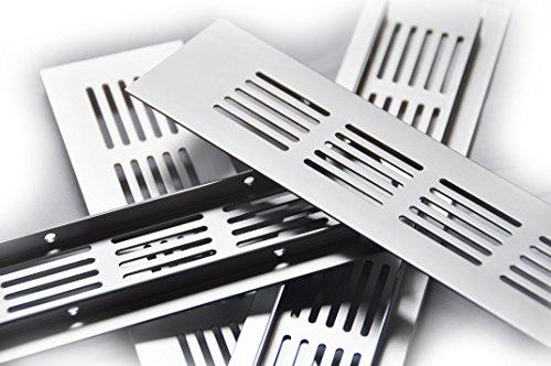 50x300mm Alu Aluminium Lüftungsgitter Stegblech Lüftungssieb Abluftgitter Lochblech Lochgitter Edelstahl eloxiert diverse Größen und Längen