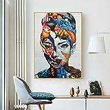 RTCKF Immagine della Ragazza su Tela Pittura murale Astratta Pittura Decorativa Stampa murale Poster Soggiorno Decorazione A3 50x70cm