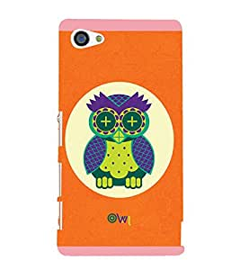 Stylish Owl 3D Hard Polycarbonate Designer Back Case Cover for Sony Xperia Z5 Compact :: Sony Xperia Z5 Mini