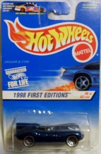 Hot Wheels 1998-638 First Edition BLUE CARD 6 of 48 Jaguar D-type 30 Years 1:64 Scale 1:64 Scale by Hot Wheels