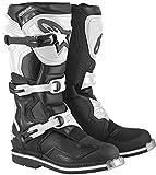 Alpinestars Motocross-Stiefel Tech 1 Schwarz Weiss Gr. 44.5