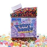 Heegay Perles d'eau, LEEHUR 50,000 Pcs Perles d'eau en Gel pour Les Jeux d'Enfants, Les Jeux sensoriels, Le Remplissage de Vase, Spa Refill, Décoration Colorée et Plein air