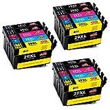 JIMIGO 29XL Cartuchos de Tinta Reemplazo Para Epson 29 Tinta Compatible con Epson Expression Home XP-245 XP-342 XP-442 XP-235 XP-345 XP-332 XP-247 XP-445 XP-432 XP-335 XP-435 XP-352 XP-355
