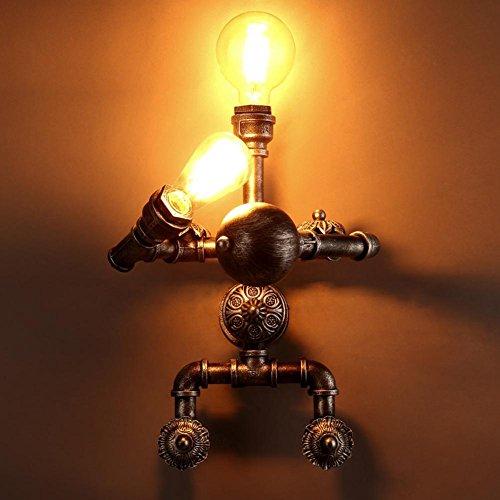BJVB Muro industriale vintage lampada ferro tubi tubi formano una parete lampada Decor illuminazione lampada Applique Applique