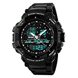 Skmei Analog-Digital Black Dial Men's Watch - 1164