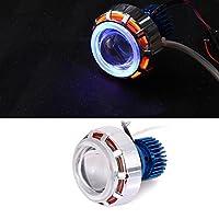 Headlight Led Angel Eye Built-In Light Motorcycles 12V 18W Cars 2200Lm 1Pcs Aluminum Lamp
