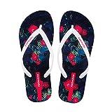 Hausschuhe WYQLZ Frauen Flip-Flops Sommer Outdoor-Mode Rutschfeste Strand Casual Sandalen Klippzehe Flache Schuhe Persönlichkeit Trend Dicke Soft Bottom (größe : 36.5 EU)