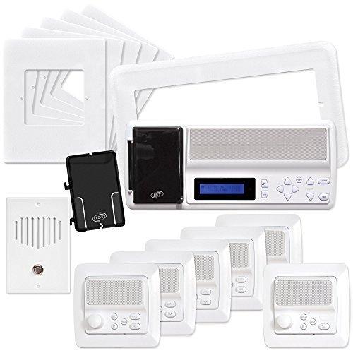 IST RETRO Music & Intercom System Package, Almond (RETRO-MV4PACA) by Intrasonic Technology