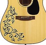Akustische Gitarre–Floral Swirl Aufkleber Aufkleber für Gitarre