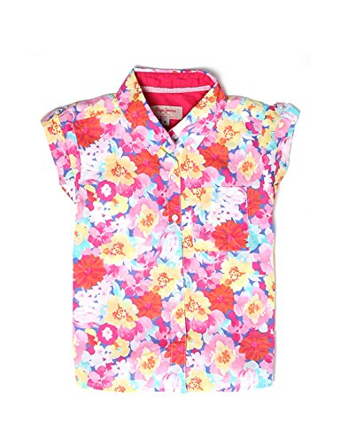 Pepe Jeans Girls' Floral Regular Fit Cotton Shirt (PIG0000950_Pink_10)  available at amazon for Rs.330
