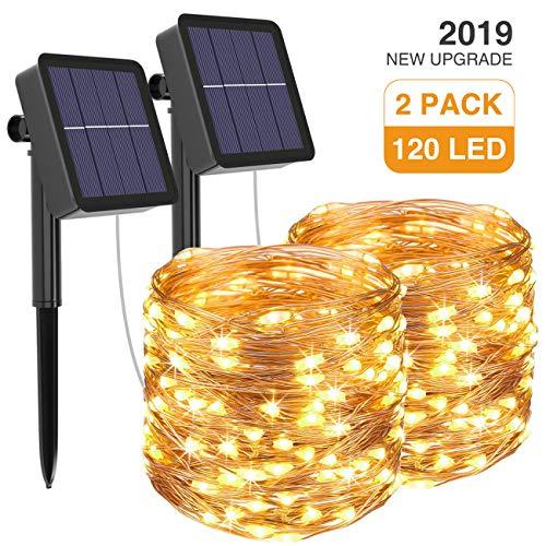 [2 Pack] Guirnaldas Luces Exterior Solar