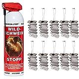 Hagopur Wildschwein-Stop mit 10er Pack Aluminium zuverlässige Wildabwehr für Schwarzwild und Rehwild