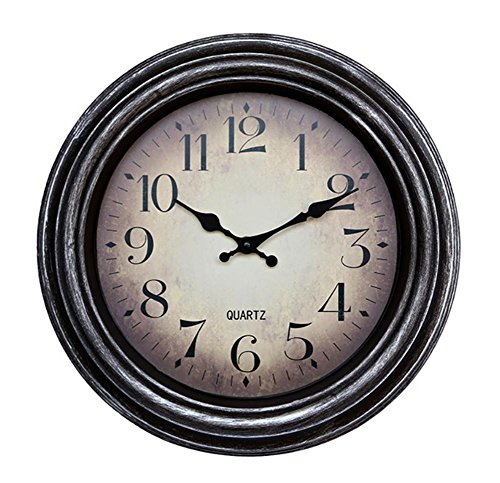 Metal retro orologio di parete creativa muto orologi di colore europeo puntatore metallo ultra-silenzioso elettronica-camera (2 Metal Parete)
