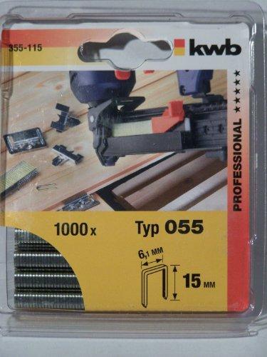 KWB Klammern, Typ 055/355, Schmalrücken, Stahl, C-Spitze, 355-115