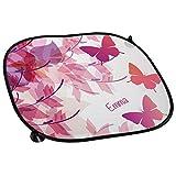 Auto-Sonnenschutz mit Namen Emma und schönem Schmetterling-Motiv für Mädchen - Auto-Blendschutz - Sonnenblende - Sichtschutz
