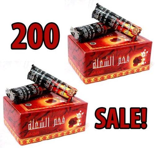 Venta de carbón! 200 tabletas de Carbones Hookah nargila para tazón Shisha fumar