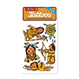 6-teiliges Tattoo-Set * Indianer * von Lutz Mauder // Kinder Kindertattoo Kindergeburtstag Geburtstag Mitgebsel Geschenk Indianer Häuptling Wilderwesten Cowboy -