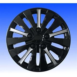Radkappen Radzierblenden Dubai Black-Silver 15 Zoll Satz 4 Stk Radblenden