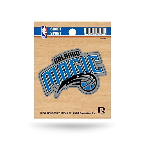 Rico Industries NBA Orlando Magic Die Cut Team Logo Short Sport Sticker
